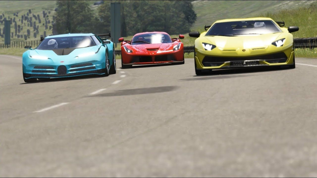 Bugatti Centodieci Vs Lamborghini Aventador Svj Vs Ferrari Laferrari Ferrari Laferrari Lamborghini Aventador Bugatti