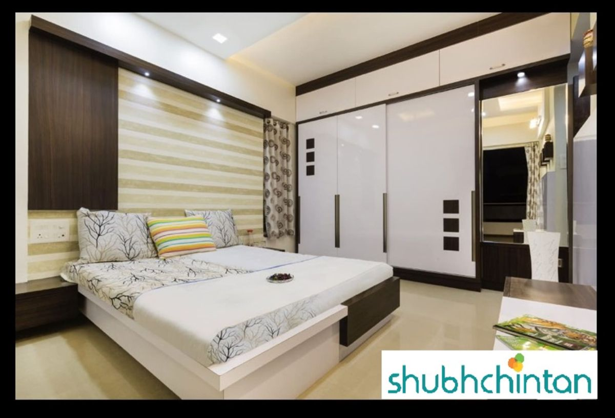 Bed and wardrobe details modern style bedroom by homify