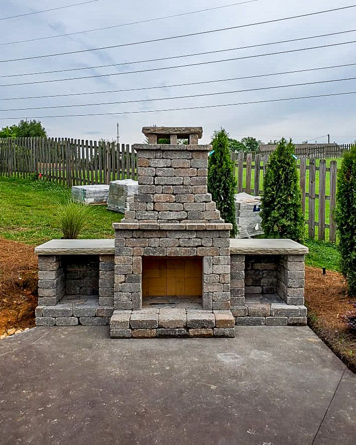 "DIY Outdoor Fireplace Kit ""Fremont"" makes hardscaping cheap and easy!"