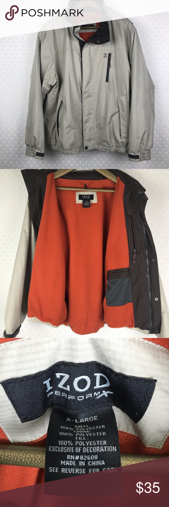 Izod Perform X Winter Jacket Item Is In Good Condition Other Than Stain On Sleeve You Can Have Hood Or No Hood Ask For Winter Jackets Jackets Clothes Design [ 1740 x 580 Pixel ]