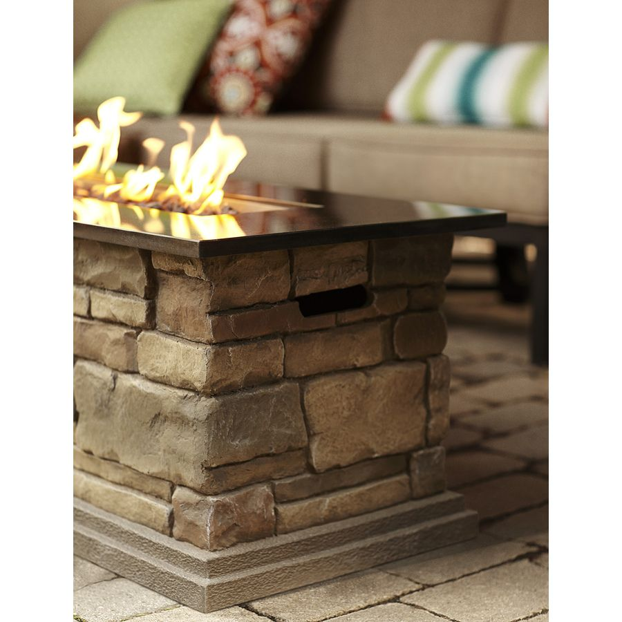 Bond Canyon Ridge W Stone Look Composite Liquid Propane Fire Table At  Loweu0027s. Keep Warm And Create The Perfect Outdoor Setting With This Gas Fire  Table From ...