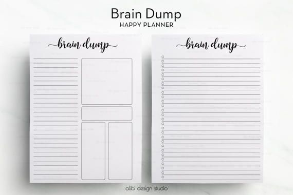 photograph relating to Brain Dump Printable titled Mind Dump, Pleased Planner, Thoughts Dump printable, In the direction of Do Record