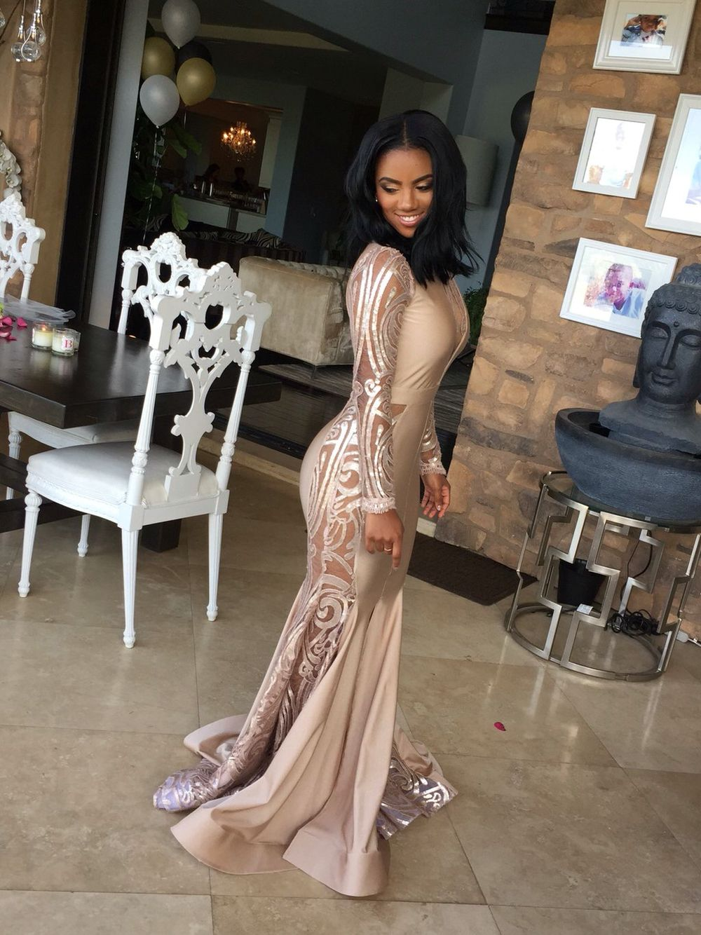 924d3336a7 Pin by Monique Jones on prom | Prom girl dresses, Black girl prom ...