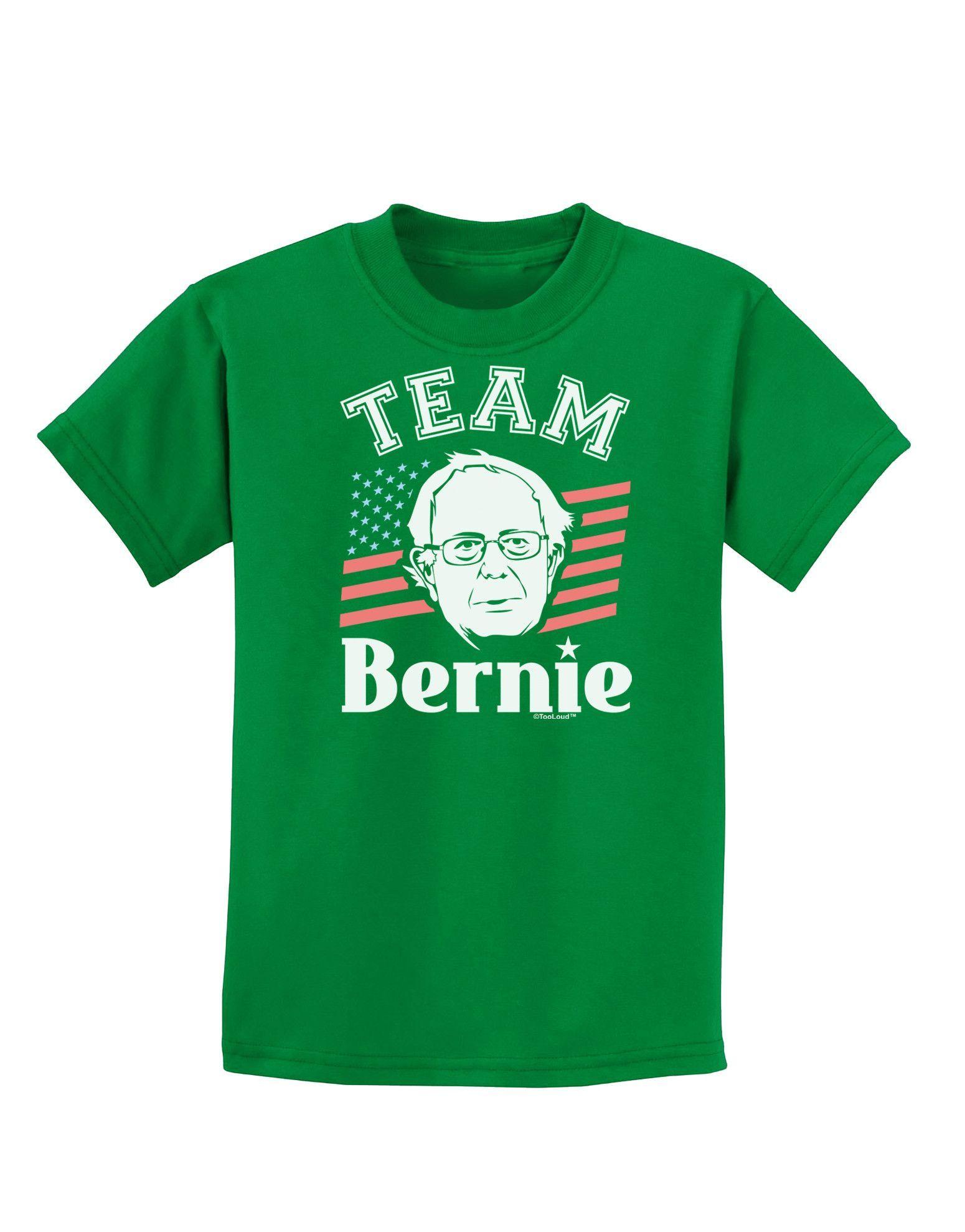 TooLoud Team Bernie Childrens Dark T-Shirt