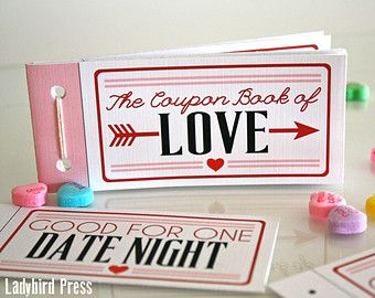 printable valentines day gift love coupons coupon book valentine gift for - Valentine Gifts For Husbands