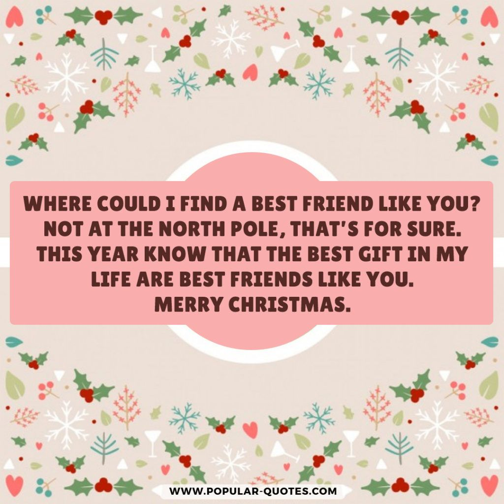 Where Could I Find A Best Friend Like You Not At The North Pole