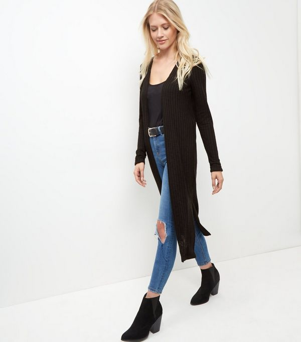 Black Fine Knit Longline Cardigan | Womens knitwear, Knitwear and ...