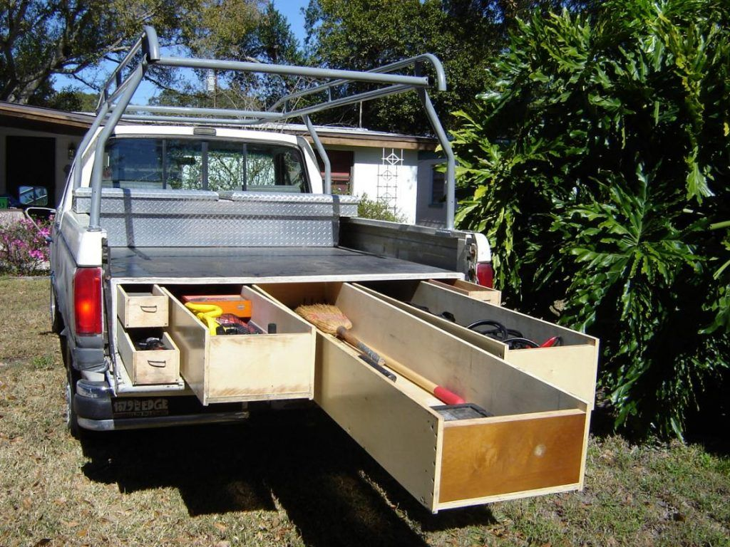 slidingtruckdrawersystem13 Truck bed storage, Diy