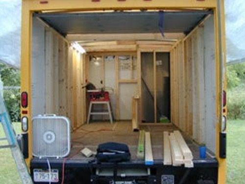 14 Simple And Genius Box Truck Rv Conversion Vanchitecture Truck Camper Trucks Camper Conversion