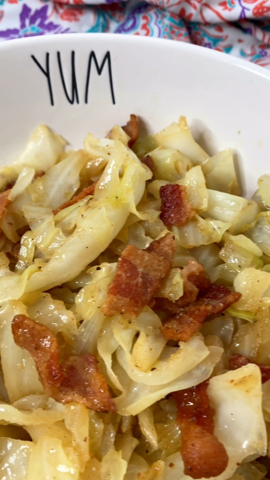 Keto Fried Cabbage with Bacon