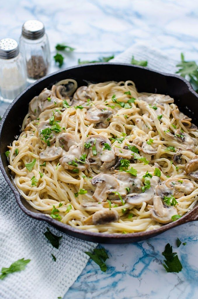 Creamy Garlic Mushroom Pasta Recipe With Images Recipes