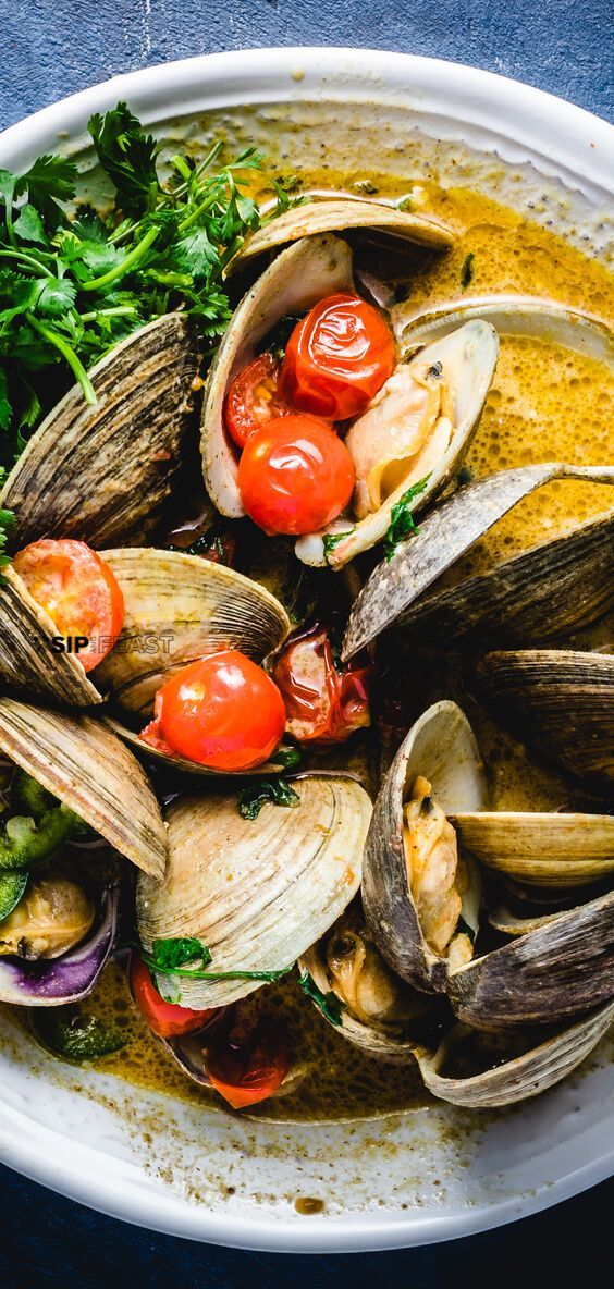 Photo of Easy Thai Green Curry Clams