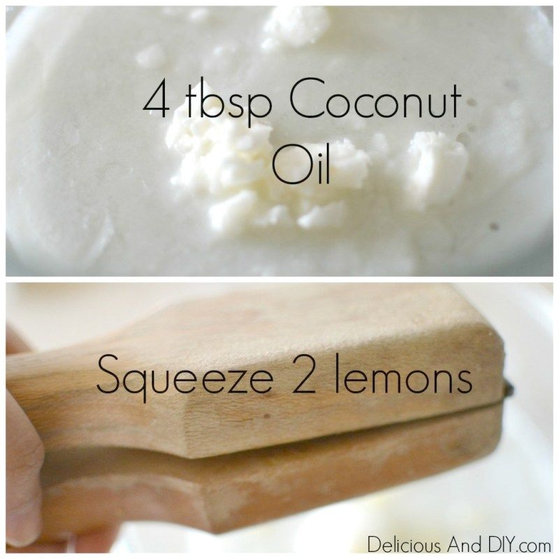 Lemon And Organic Coconut Oil Face Moisturizer - Delicious And DIY #homemadefacelotion