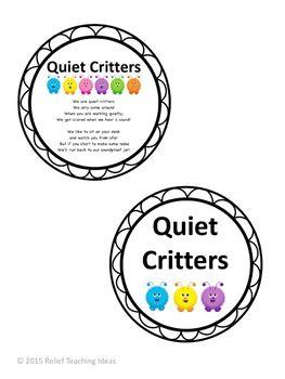 EDITABLE Quiet Critters Labels