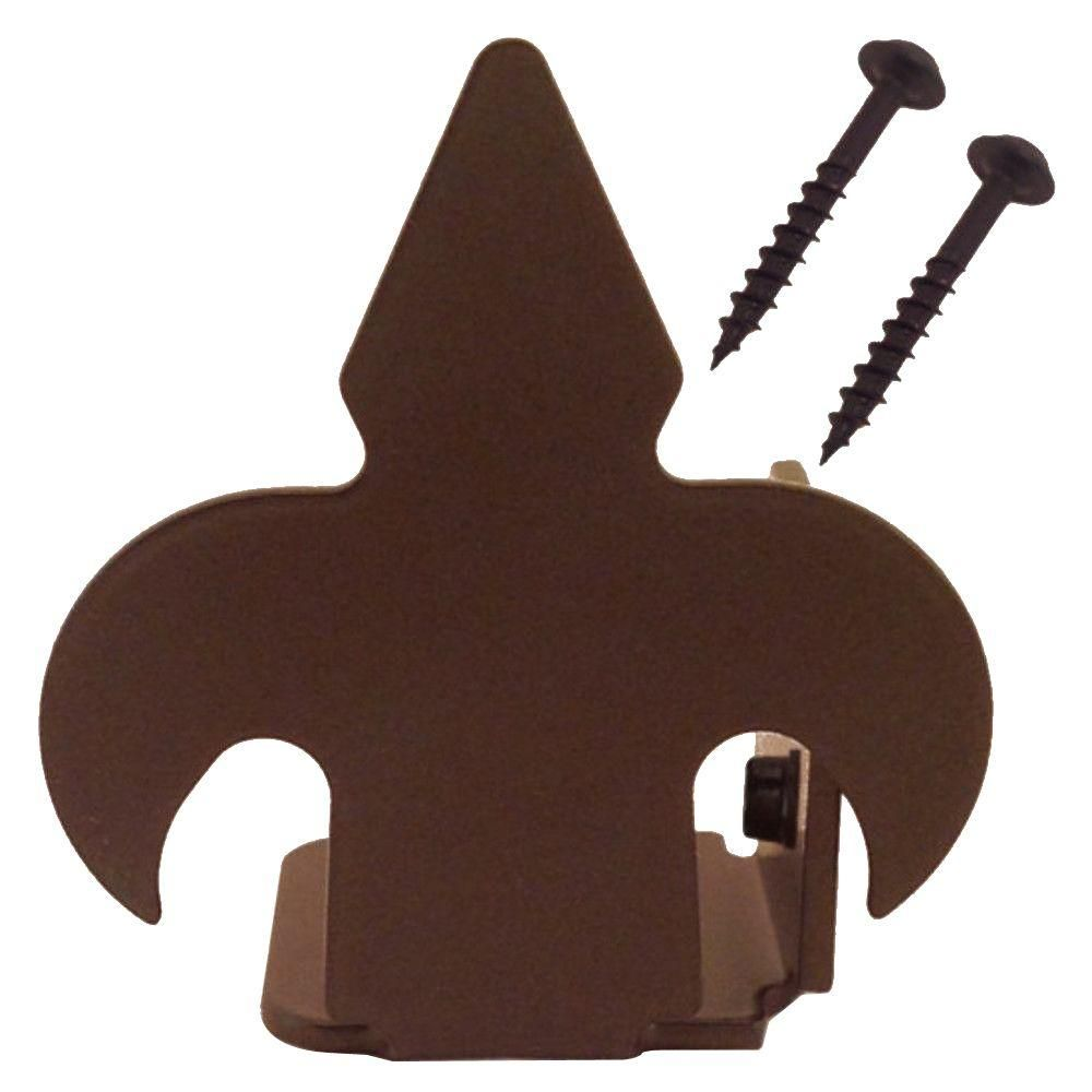 2-7/8 in. x 2-1/2 in. Fleur-De-Lis Non-Hammered Oil Rubbed Bronze Right End Floor Stop