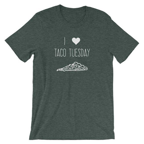 Taco Tuesday,  Taco Lover, Pizza, Lunch, Food Humor, Funny, Cute, Gift, Unisex Adult Clothing, Graphic T-Shirt #tacotuesdayhumor