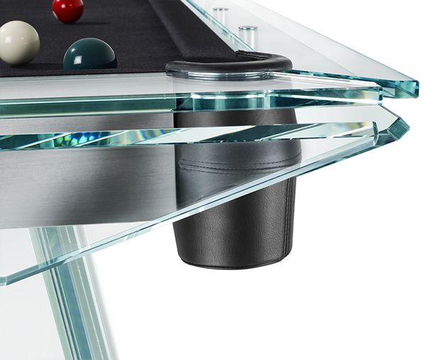 Filotto, the crystal pool table by adriano design for CALMA E GESSO