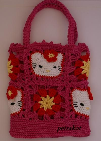 Hello Kitty Bag & Scarf Written (Translated) & Picture Tutorial - no ...