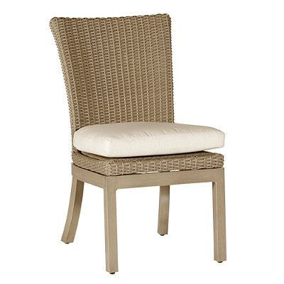 rustic side chair with cushion by summer classics   chairs