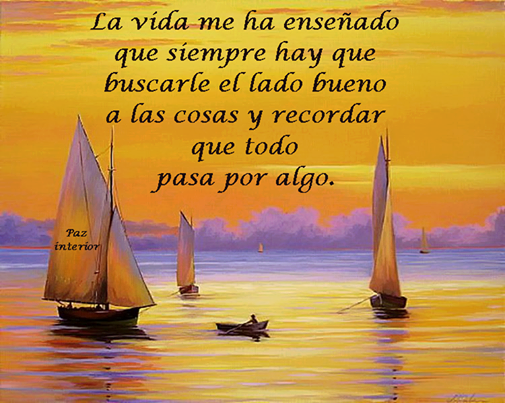 Todo pasa por algo, tenemos que buscar el lado bueno a las cosas  www.anavelazquez.es
