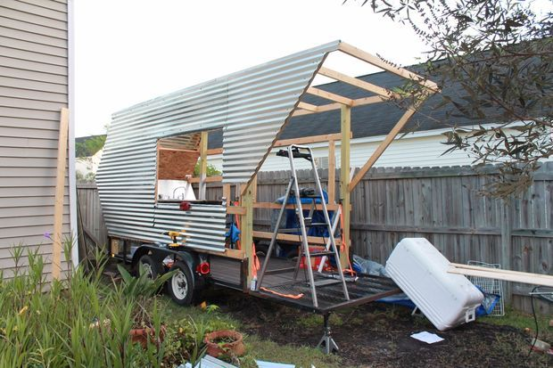 Building A Competition Bbq Trailer Or Food Vending Trailer Bbq Building Metal Siding