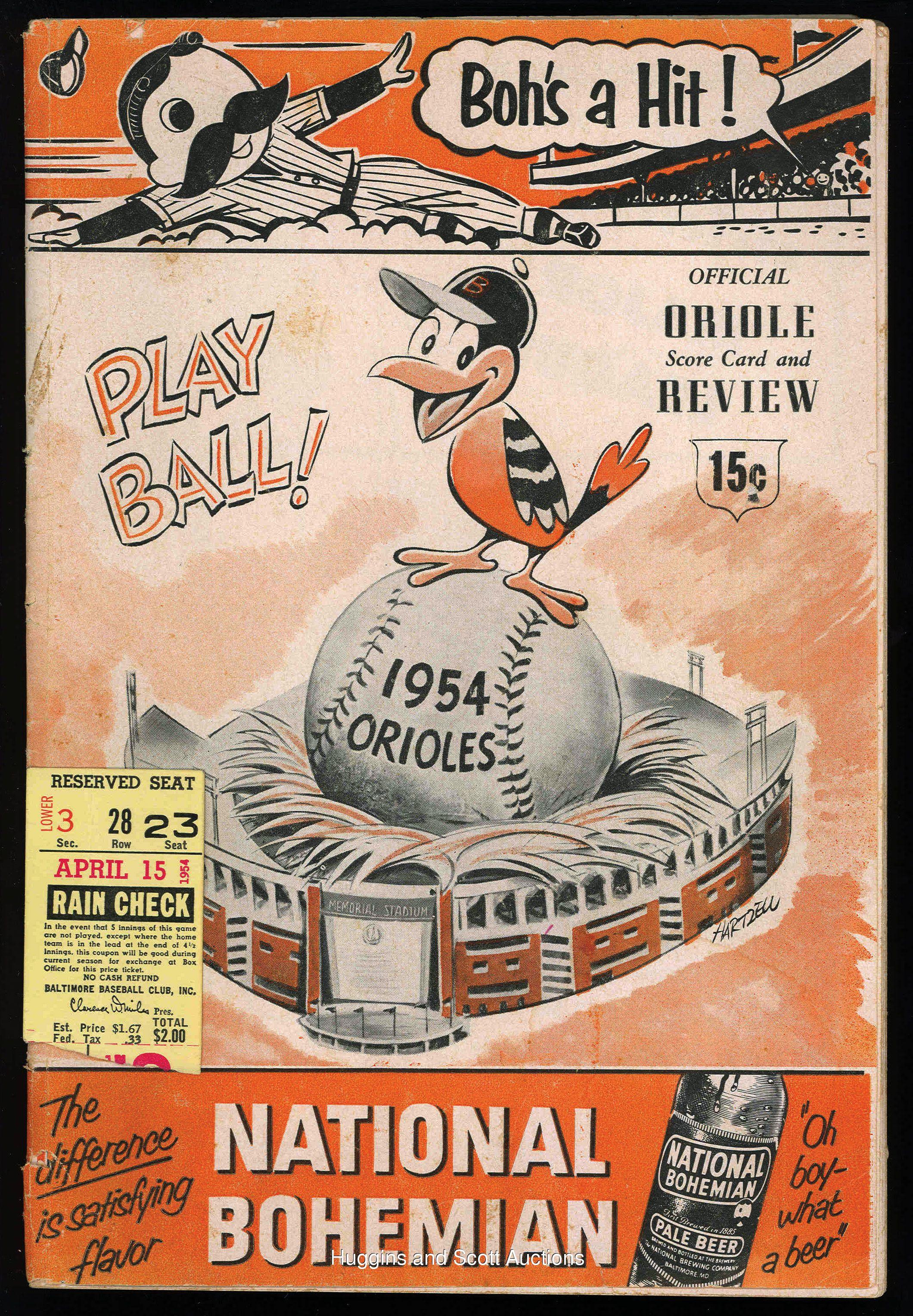 Opening Day, 1954 Baltimore orioles baseball, Baltimore