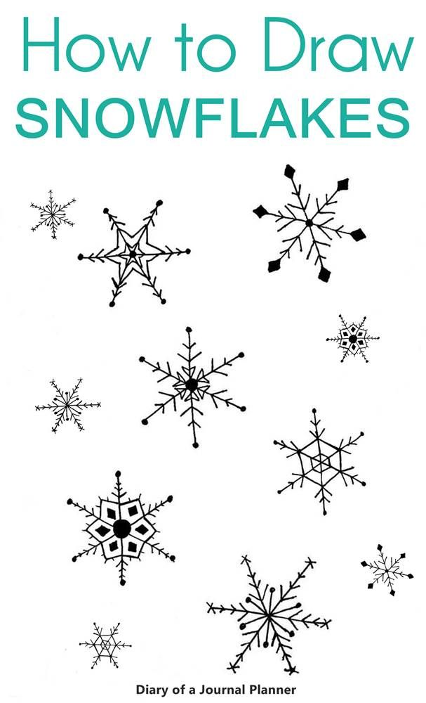 How to draw a snowflake: Easy snowflake drawing step by step tutorial