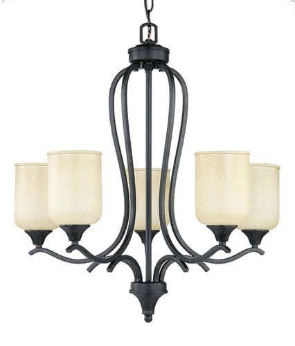 Patriot lighting winchester 5 light 26 h black gold chandelier at menards