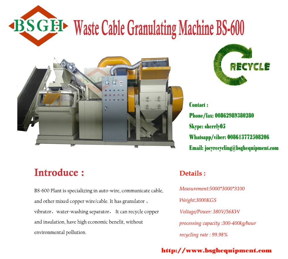 Best quality automatic cable granulator machine BS-400. Cable ...