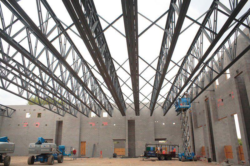 Medium Steel Structure Trusses Industrial Roofing Steel