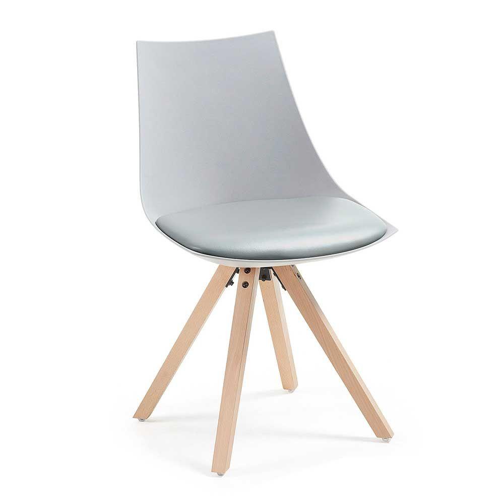 Esstisch Stühle Stuhl Küche in Buchefarben (4er Set) Jetzt bestellen ...