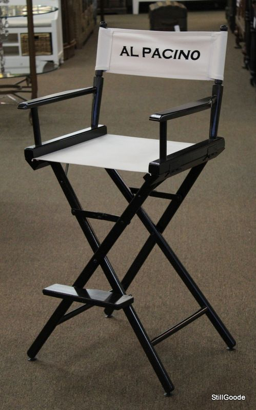 Unique Black Folding Bar High Director Chair By Telescope With