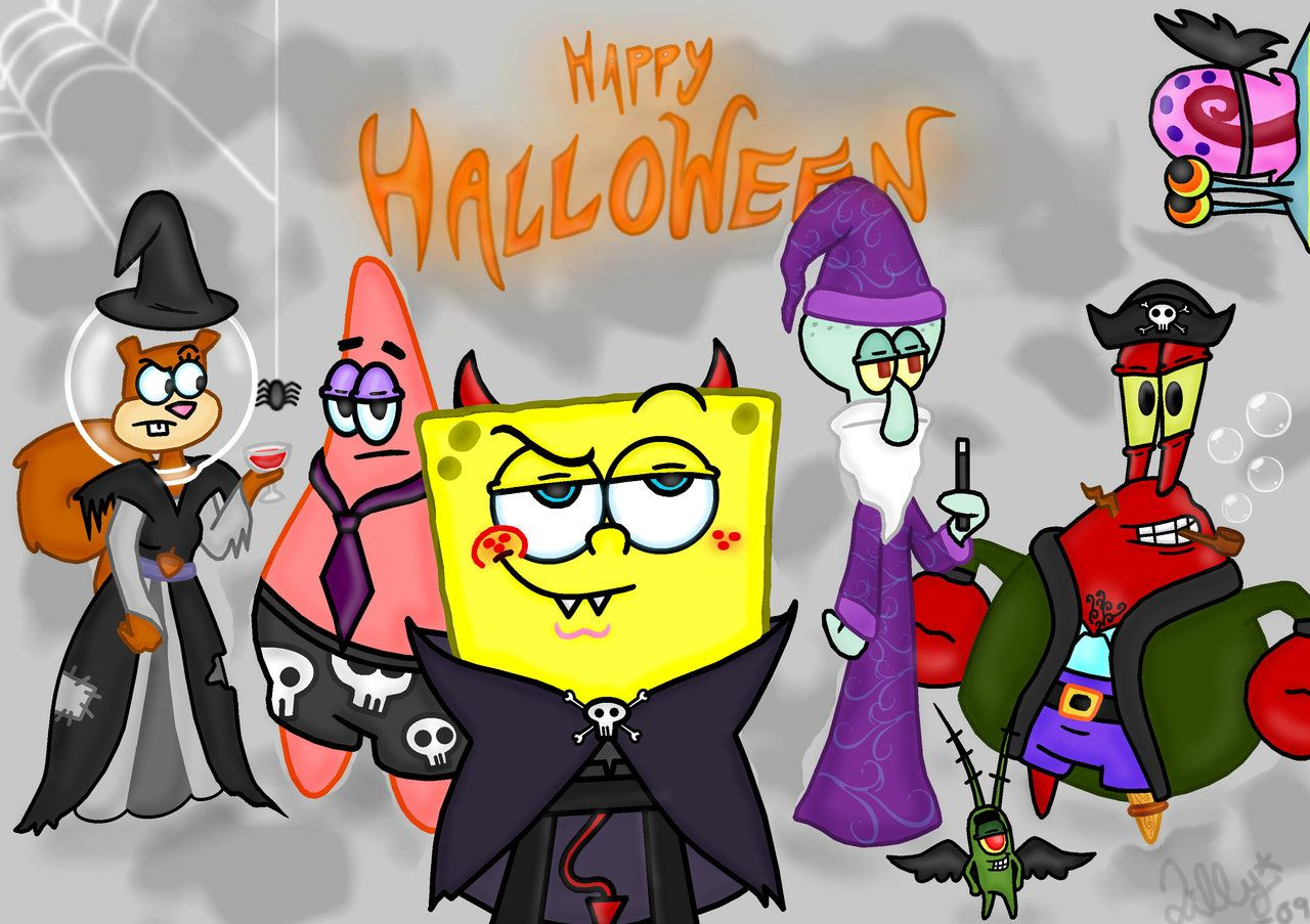 spongebob squarepants halloween copyright