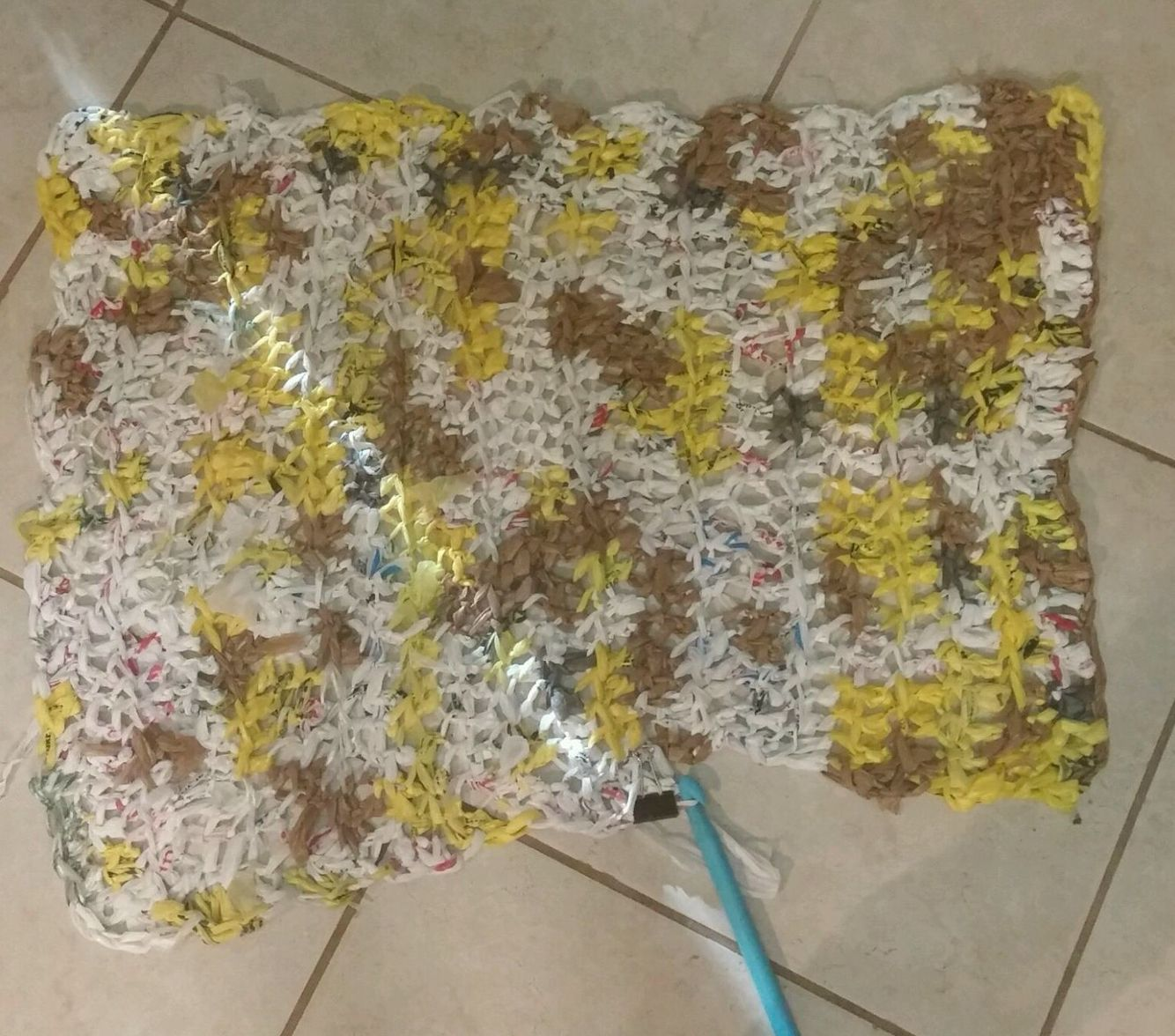 Recycled plastic bags crochet
