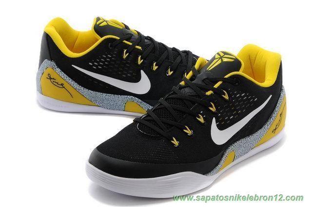 size 40 5e56f 1da68 venda de tenis online Nike Kobe IX EM Preto Amarelo