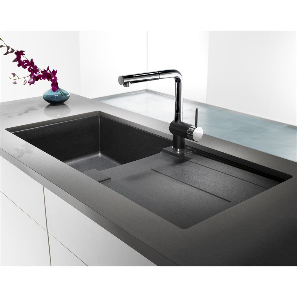 BLANCO SOP20 Metra X Silgranit Single Bowl Sink with Drainboard ...