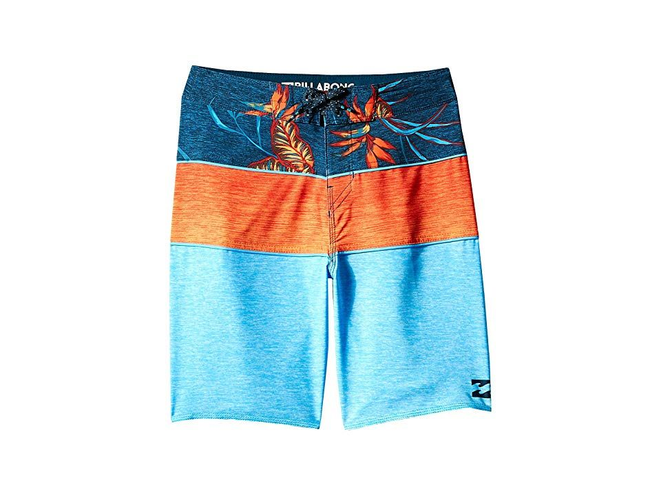 Billabong Kids Tribong X Boardshorts Big Kids Cyan Boys Swimwear A stylish pair of boardshorts that are perfect for tackling surf and sun Performance fit that is engineer...