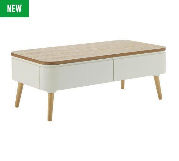 Buy Hygena Reese Round Corner 2 Drawer Coffee Table At Argos.co.uk,