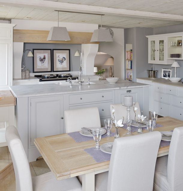 Beautiful kitchen look—love the classic recessed door/drawer cabinets❣ Neptune Fulham
