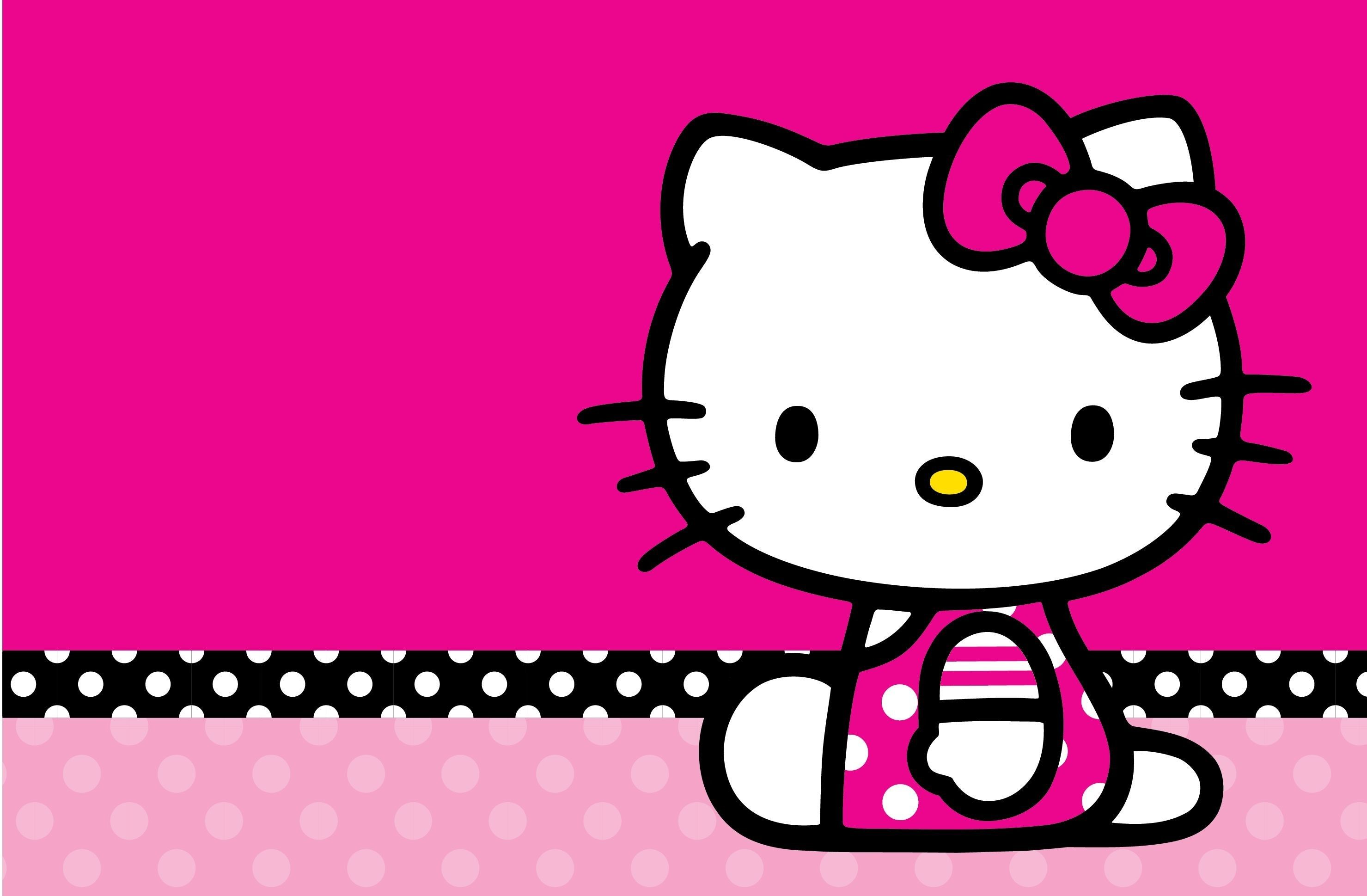 Hello Kitty Pink And Black Love Wallpaper Desktop Background