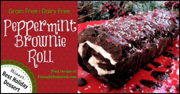 Paleo Peppermint Brownie Roll Grain Dairy Nut Free Recipe