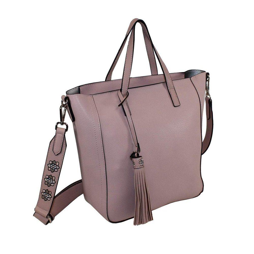 7bb914e22ecfd ... einfach schöne Taschen von fulltimeshop. Glüxklee Shopper in zartem  rosa mit großer Quaste