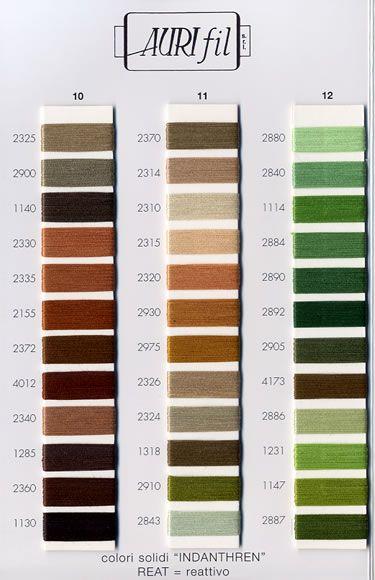 aurifil thread color chart - Aurifil Thread Color Chart