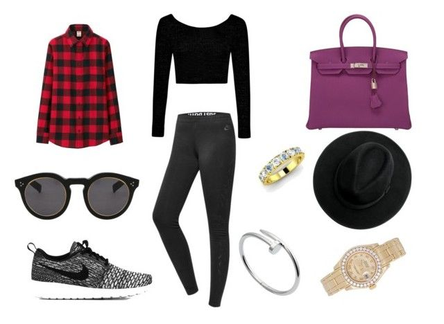 """""""Untitled #20"""" by manugeral on Polyvore featuring NIKE, Uniqlo, Boohoo, Hermès, Illesteva, Diamondere, Cartier and Rolex"""