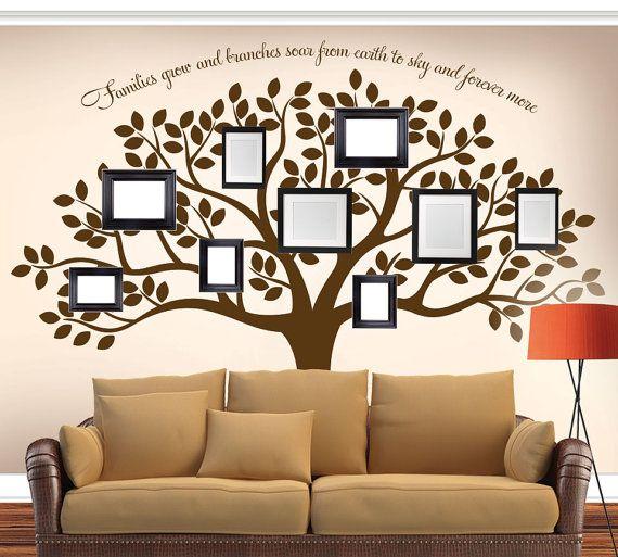 Living Room Tree Art: Family Tree Wall Decal