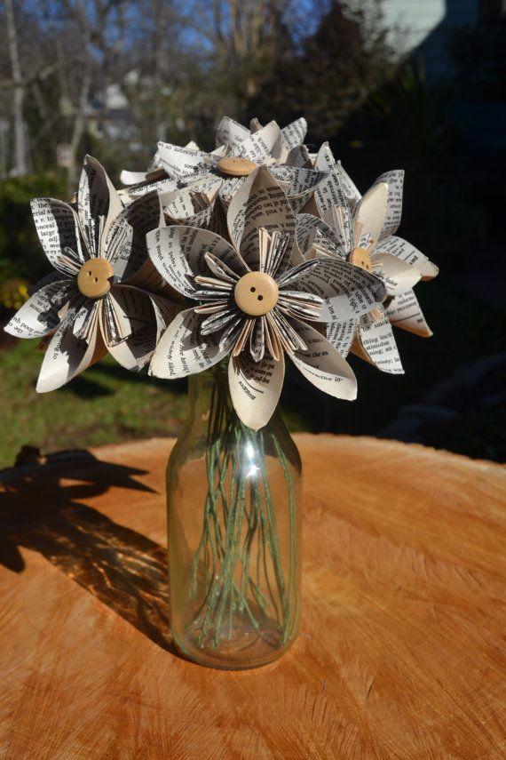 12 Bloom Oragami Flower Bouquet or by JillyAnnsCreations on Etsy, $35.00