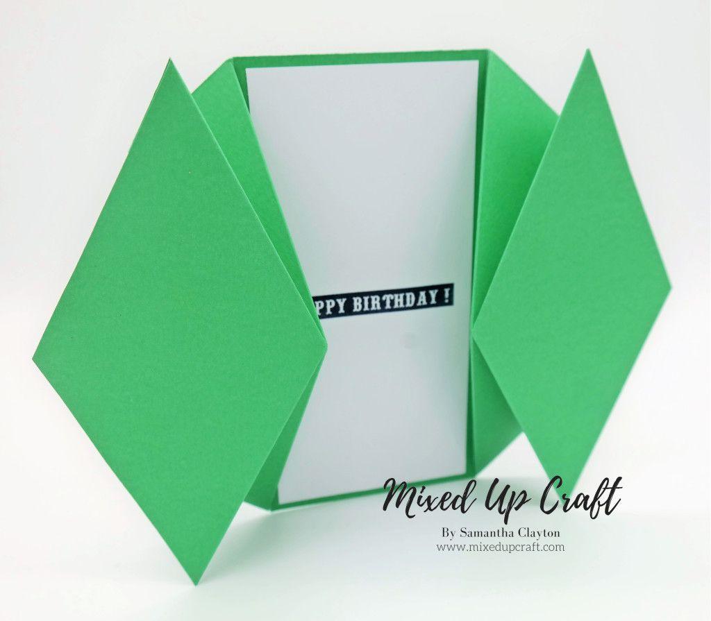 Double Diamond Fold Card Fancy Fold Card Tutorials Card Making Tutorials Gatefold Cards
