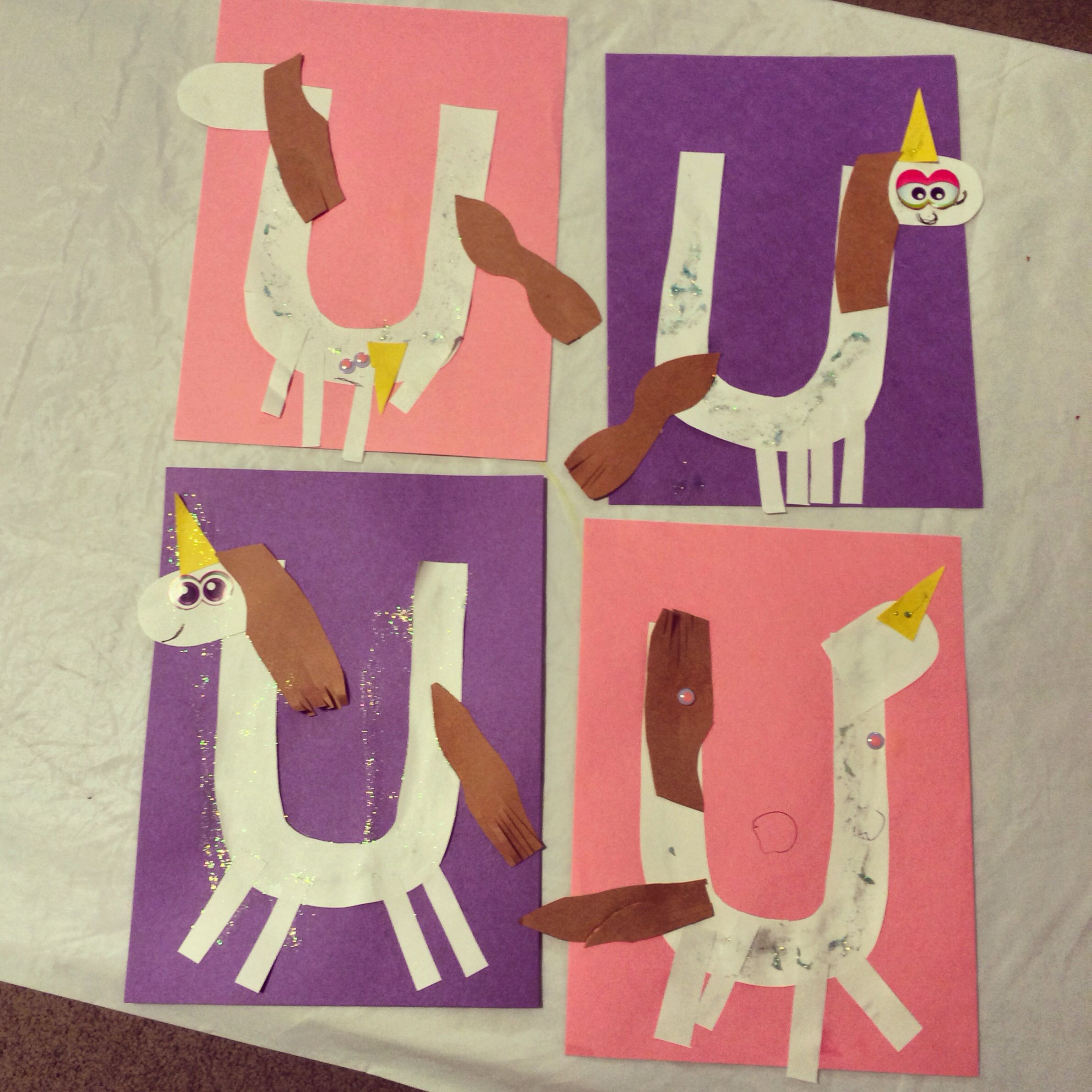 U Is For Unicorns Great Letter Craft For Preschoolers And