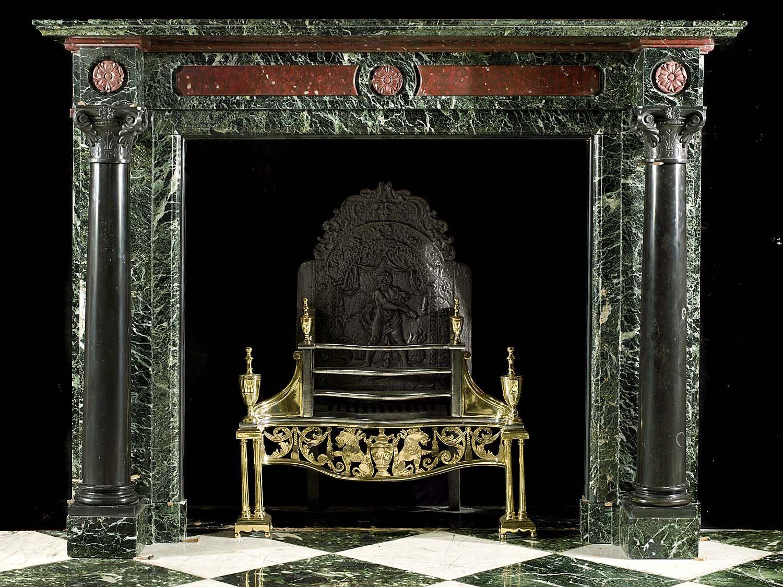 An Antique Kilkenny Black Marble Fireplace Mantel Lareira Acessorios