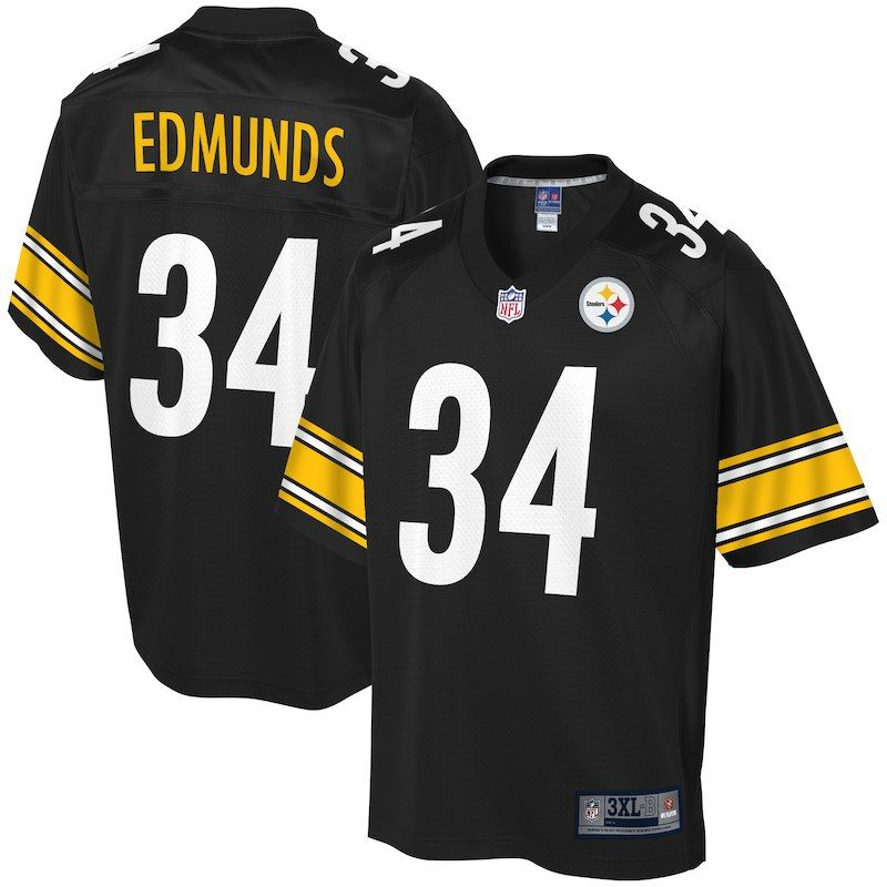 the latest 3afe4 0de69 Terrell Edmunds Pittsburgh Steelers NFL Pro Line Big & Tall ...